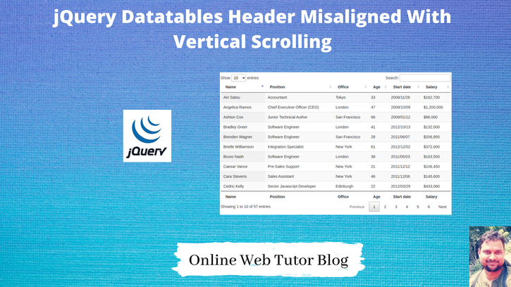 jQuery-Datatables-Header-Misaligned-With-Vertical-Scrolling